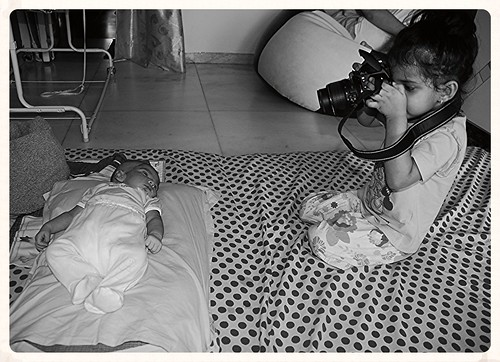 Marziya Shakir 3 and a Half Year Old Shoots Nerjis Asif Shakir 21 Days Old by firoze shakir photographerno1