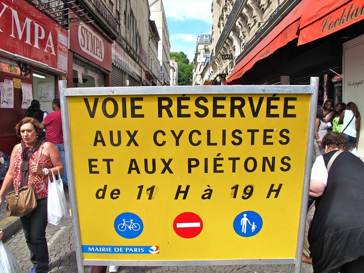 Road reserved for cyclists and pedestrians
