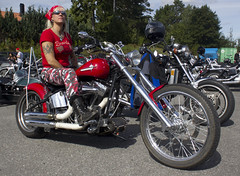 Carina on her Harley