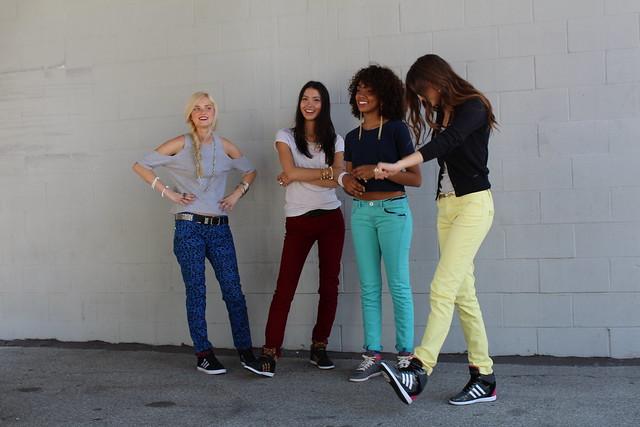Adidas Neo Alexa Reynen Chloe Blanchard Kalysse Anthony Shannon O'Connor fall campaign shoot Los Angeles lisforlois