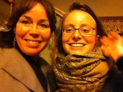 Eliane Laberge of FECQ, FPSE HRISC Speaker's Tour 2012, with Eliza Gardiner