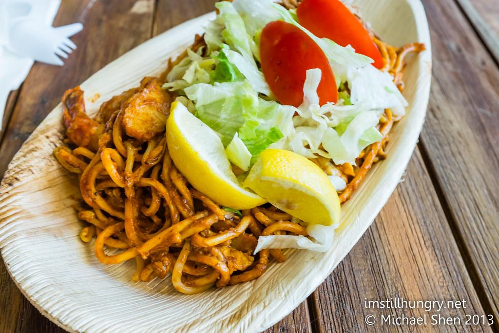 Mee Goreng w/prawns & fish cakes Mamak Village UNSW