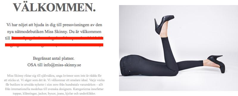 bojkotta miss skinny