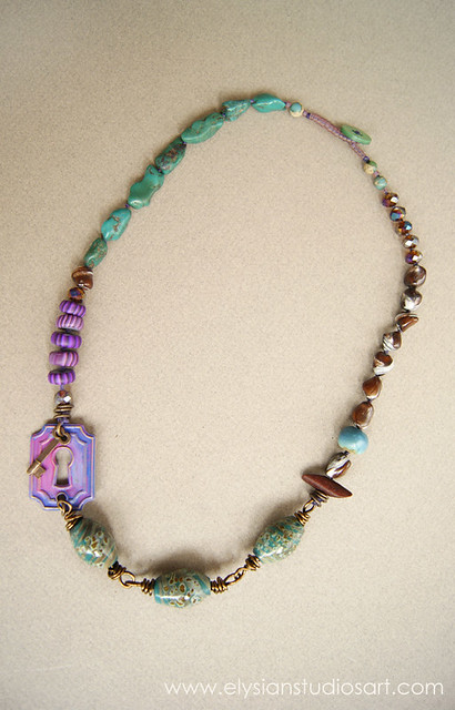 Treasure in the Tidepool Handmade Art Jewelry Necklace