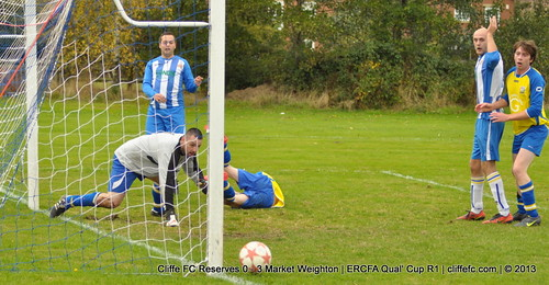 Cliffe FC 2ndXI 0 - 3 Market Weighton (ERCFA Cup) 5Oct13