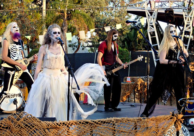 The Rhythm Coffin playing at Queen Mary's Dark Harbor