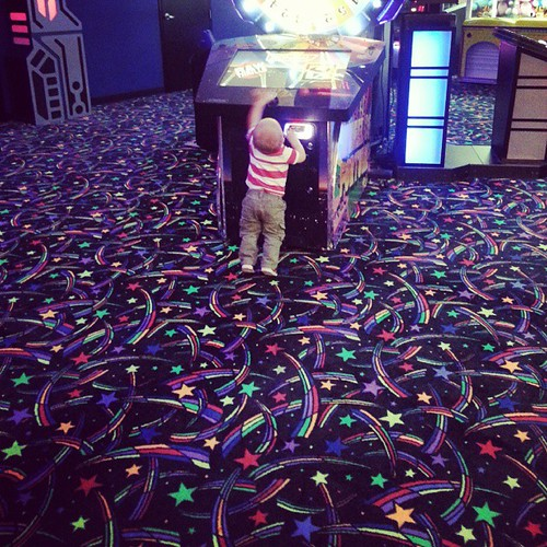 Someone was more interested in the arcade
