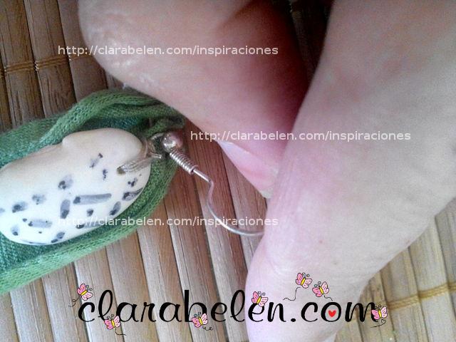 conjunto collar pulsera y pendientes con judías blancas