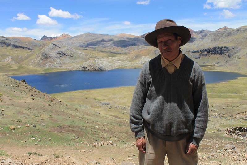 Alejandro at home by Laguna Tanserecocha