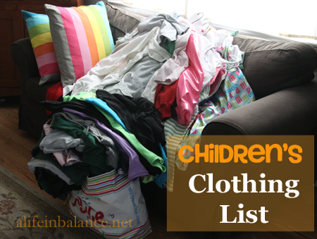 Children's Clothing List: How Much Clothes Do Your Kids Actually Need?