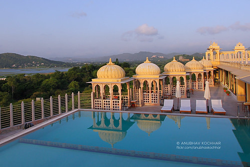 road trip morning travel india reflection rooftop water pool beautiful swimming sunrise canon wow photography eos hotel amazing view terrace wide wideangle palace ultrawide canoneos efs 1022mm rajasthan udaipur newday 60d flickraward chunda flickrtravelaward soloindiantraveller anubhavkochhar airingbyway