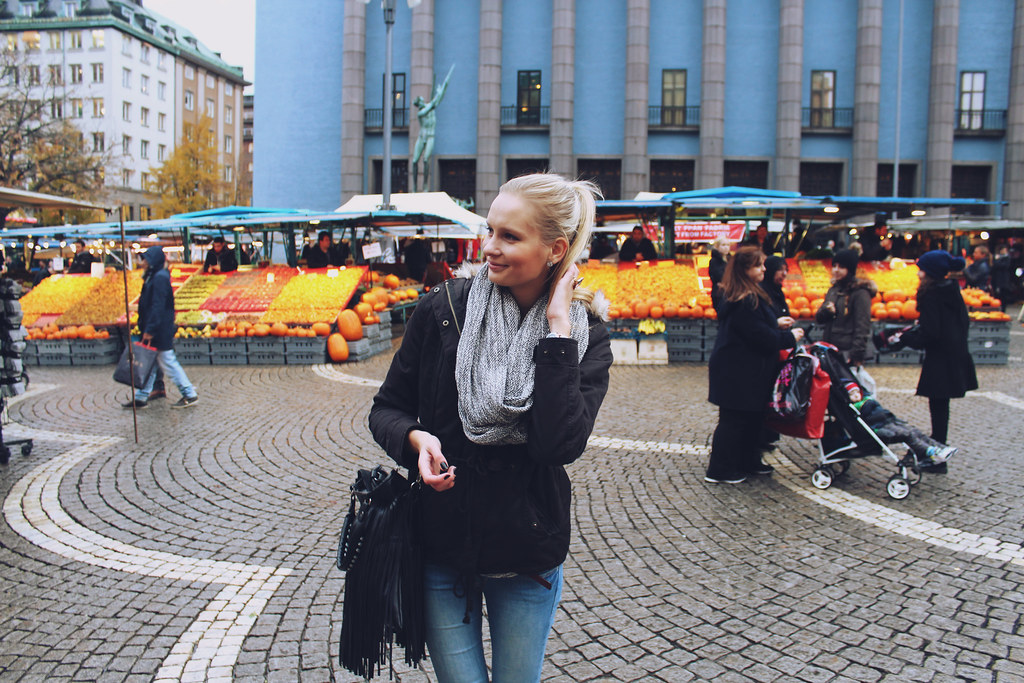 Maddie taking Stockholm! Walking around the streets of Stockholm and Stockholms farmers market, shopping street, H&M Sweden. Going on a cruise from Riga to Stockholm