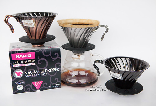 Hario V60 Vintage Metal Pour Over (Size 02) in three different colors