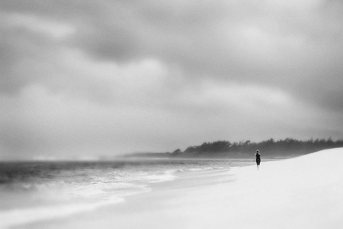 ocean bw woman storm beach rain raw elements simplicity mauritius tropicalstorm aoi 300faves peaceaward d700 heartaward platinumheartaward world100f bestcapturesaoi