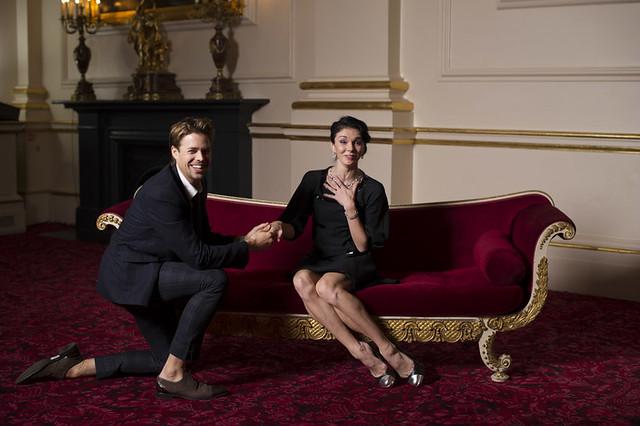 Royal Ballet Principals Matthew Golding and Natalia Osipova during a photo shoot for the Royal Opera House Magazine 2014 © Sean Malyon 2013