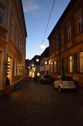 Weihnachtsmarkt Freinsheim Christmas lights over the street