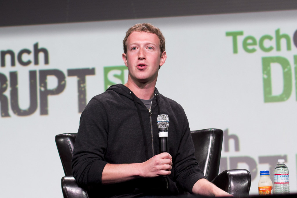 Facebook CEO Mark Zuckerberg on stage at Disrupt SF 2013. PHOTO: Jason Duaine Hahn