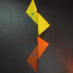 สอนวิธีพับกระดาษเป็นดาวกระจายนินจา (Shuriken Origami) - 006