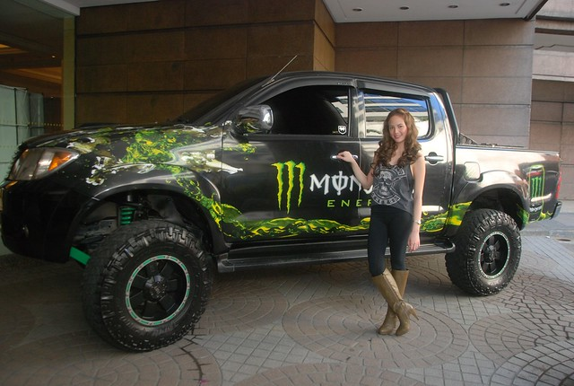 Ellen Adarna with the Monster Energy Drink Trooper (5)