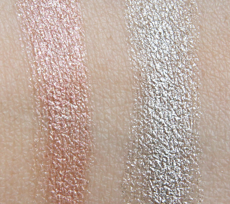 IsaDora 03 champagne coctail & 05 jet set twist-up eye gloss swatch