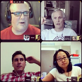 around the horn w/ Michael, John, Tony, Cindy & Anoka #Google #Hangout #HawaiiTechWorks