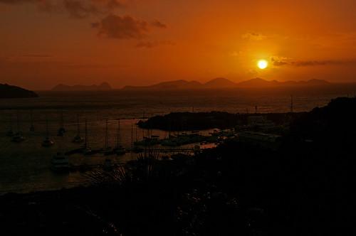 travel sea sun water silhouette photoshop sunrise landscape island dawn boat mar nikon harbour yacht dusk anchorage caribbean nikkor tortola contrejour bvi britishvirginislands westindies roadtown intothelight d300s 18105mmf3556 nikon18105mmf3556