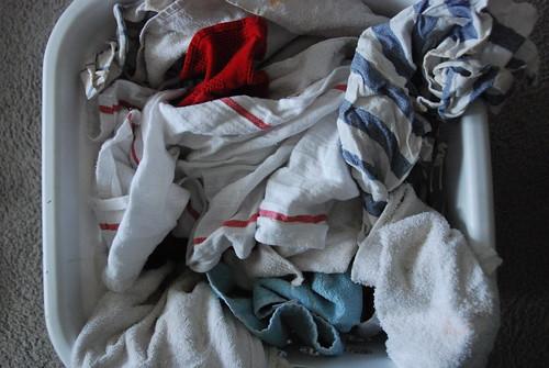 Dye rags with rit dye