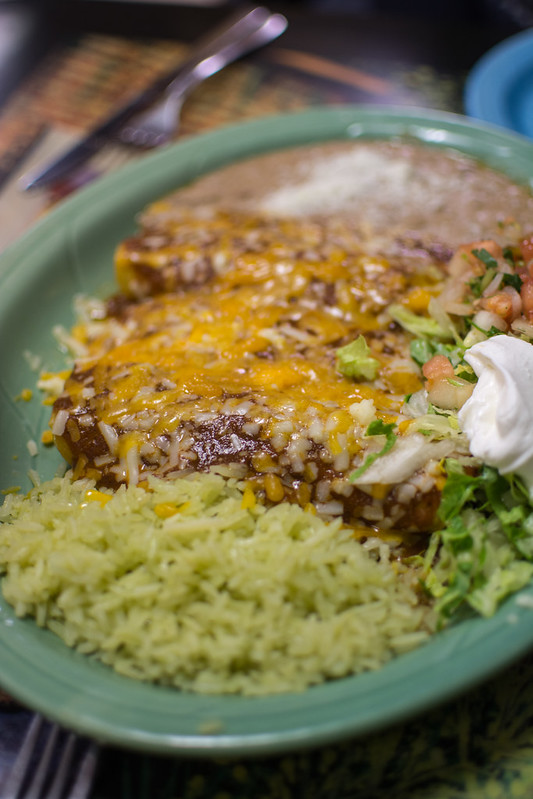 Enchiladas at Las Palmas