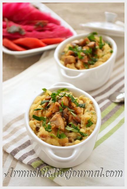 Гороховое пюре с грибами рецепт с пошагово