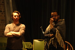 Wed, 2014-03-05 07:45 - Behind-the-scenes pictures of rehearsals for our adaptation of Dorian.