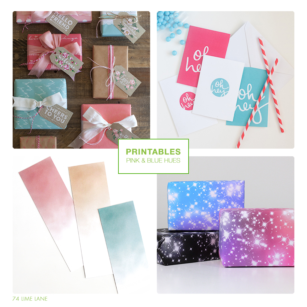 printables // pink and blue hues