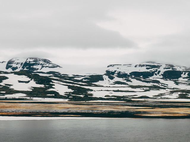 Cruzando Hardangervidda en tren