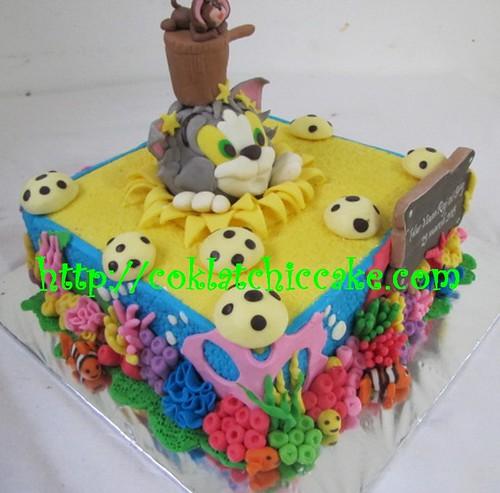 Kue ulang tahun tom and Jerry