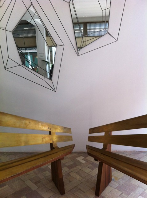 Leclettico benches and mirrors - Milan 2014