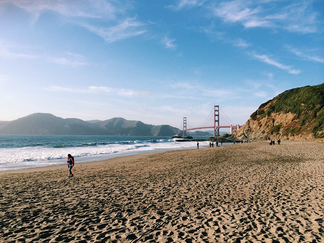 Sunday run: Baker Beach (sand ladder)