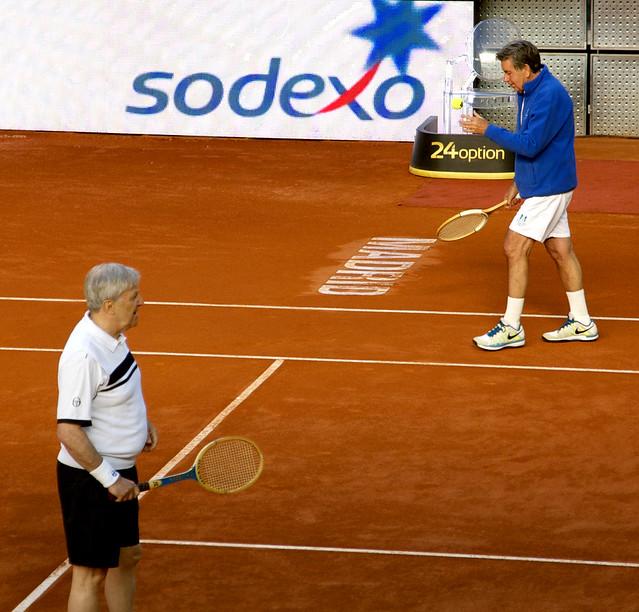 Manolo Santana y Jan Kodes