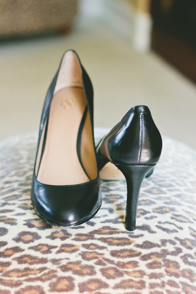 {in the office : perfect black heels} via chevrons & éclairs
