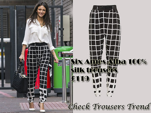 Check trousers trend