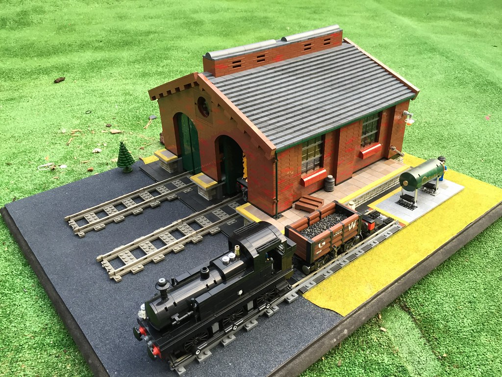 Lego Victorian Train Shed