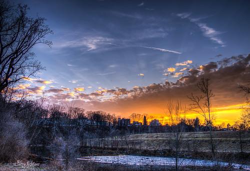 park winter sunset sky southwest clouds river evening walk roanoke terry rays february wasena aldhizer terryaldhizercom