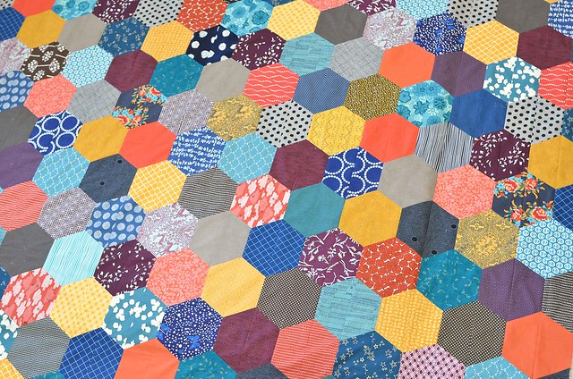 The Giant Giant Hexagon Quilt Kitchen Table Quilting In dire need of something. kitchen table quilting