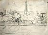 Paris rooftops and Tour d'Eiffel from top of Arc de Triomphe de l'Étoile