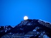 Rising moon in Ortisei