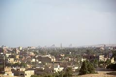 View to Saqqara Pyramids