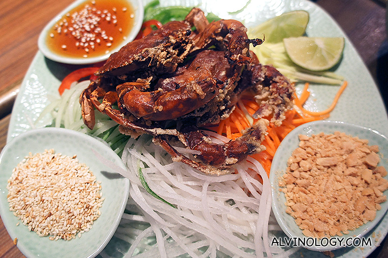 ThaiExpress introduces Thai-style Soft Shell Crab Lo Hei - Alvinology