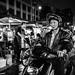 papa riding his moped