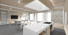 Stevens Solar Decathlon 2015 House Rendering: Interior 2