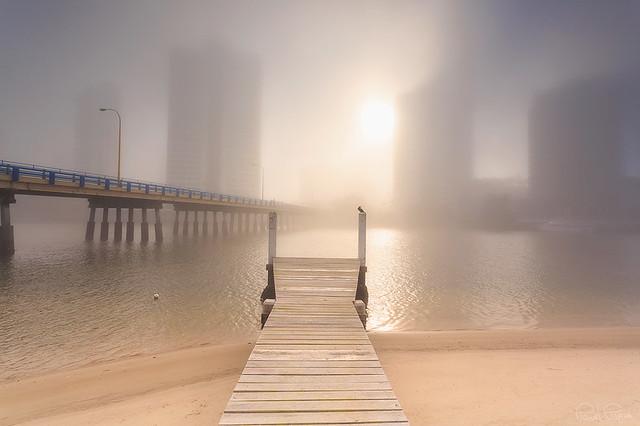 One foggy morning on the Gold Coast