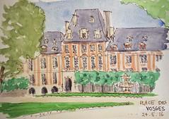 Sketching in Paris - Place des Vosges
