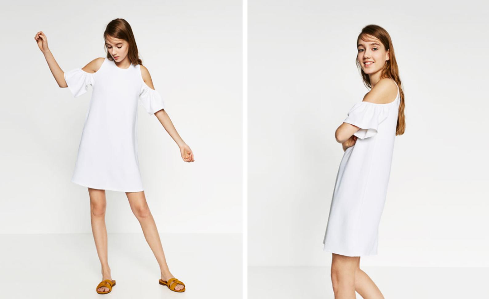 zara vestido branco